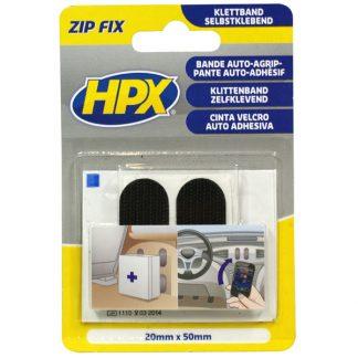 ZIP FIX kétoldalas tépőzáras ragasztó párna 20mm*50mm