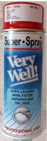 Very Well benzin és olajálló akril festék RAL3000