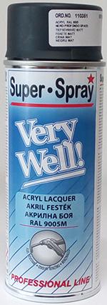Very Well RAL 9005 matt fekete spray